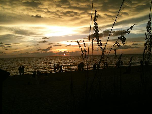 Beach sunset 3