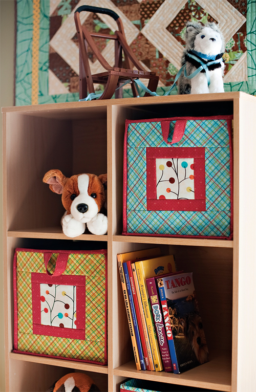 Fabric boxes cubes