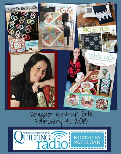 Pat Sloan American Patchwork and Quilting radio Gudrun Erla guest