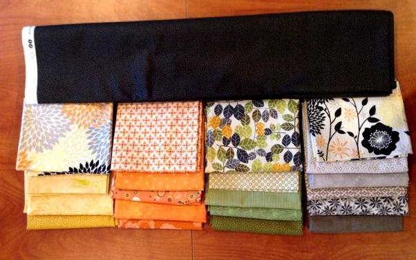 Fabrics in box