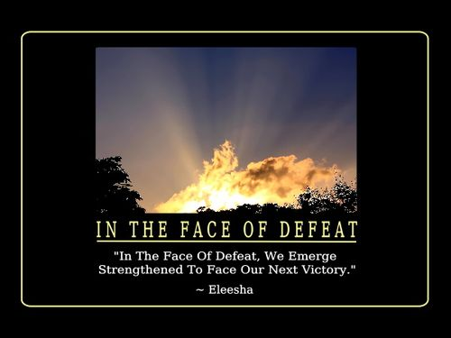 Defeat quote